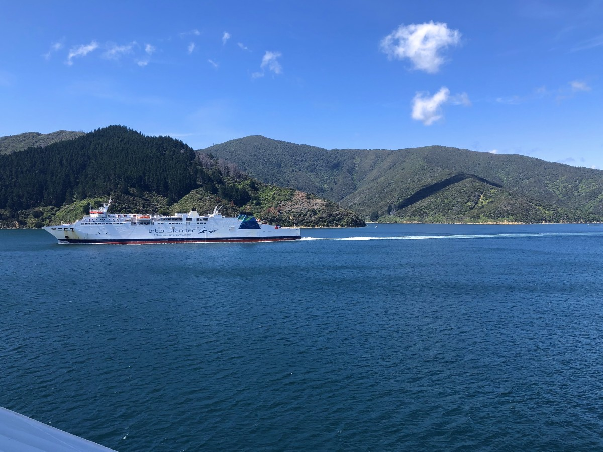 Interislander Ferry coming back from Picton