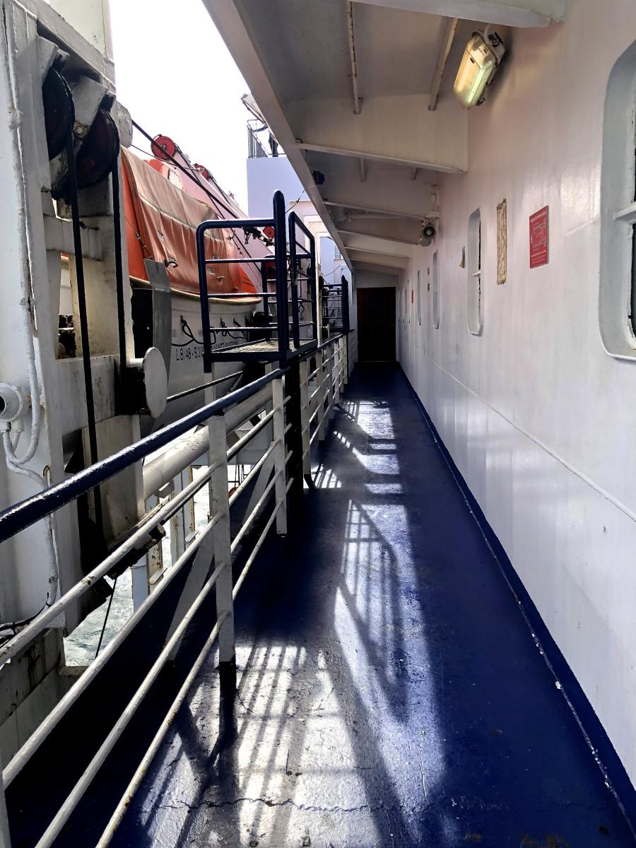 On board the Blueridge Ferry