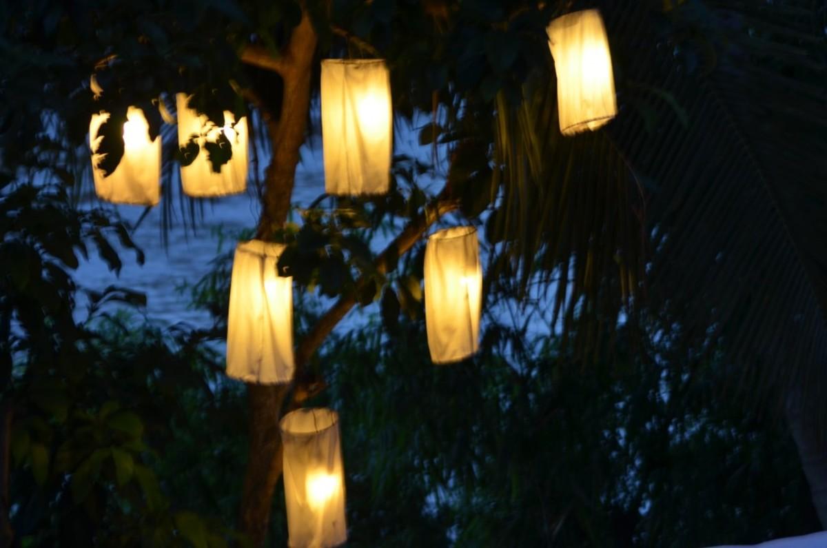 Night lights of Luang Prabang (c) A. Harrison