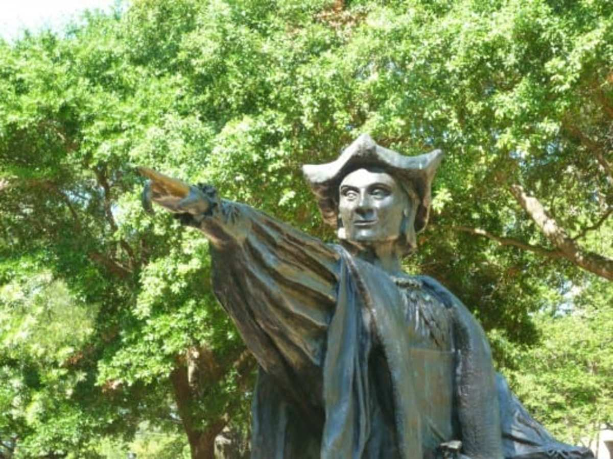 Christopher Columbus Sculpture in Bell Park
