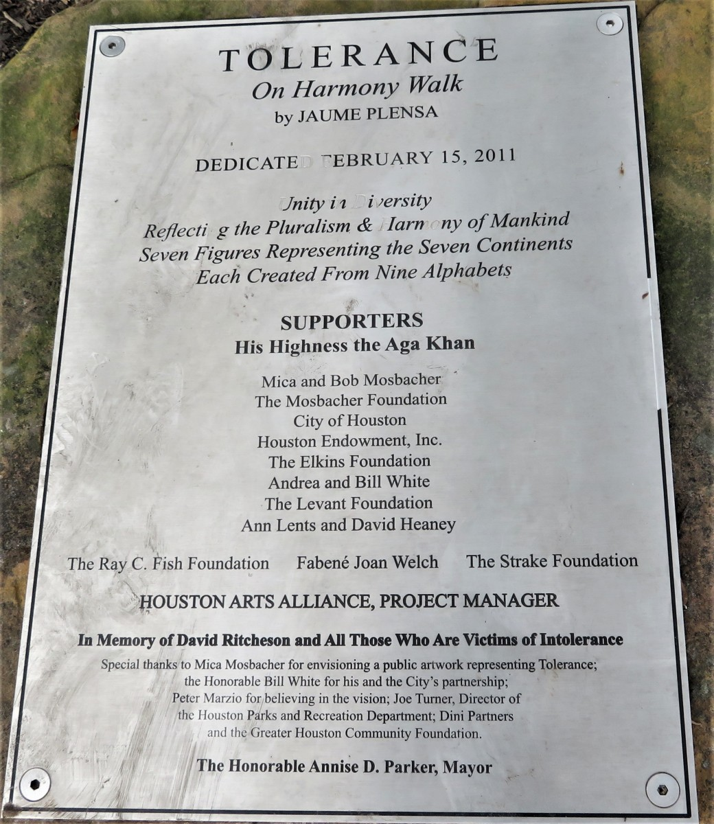 Dedication plaque is mounted on one of those large rocks from Spain.