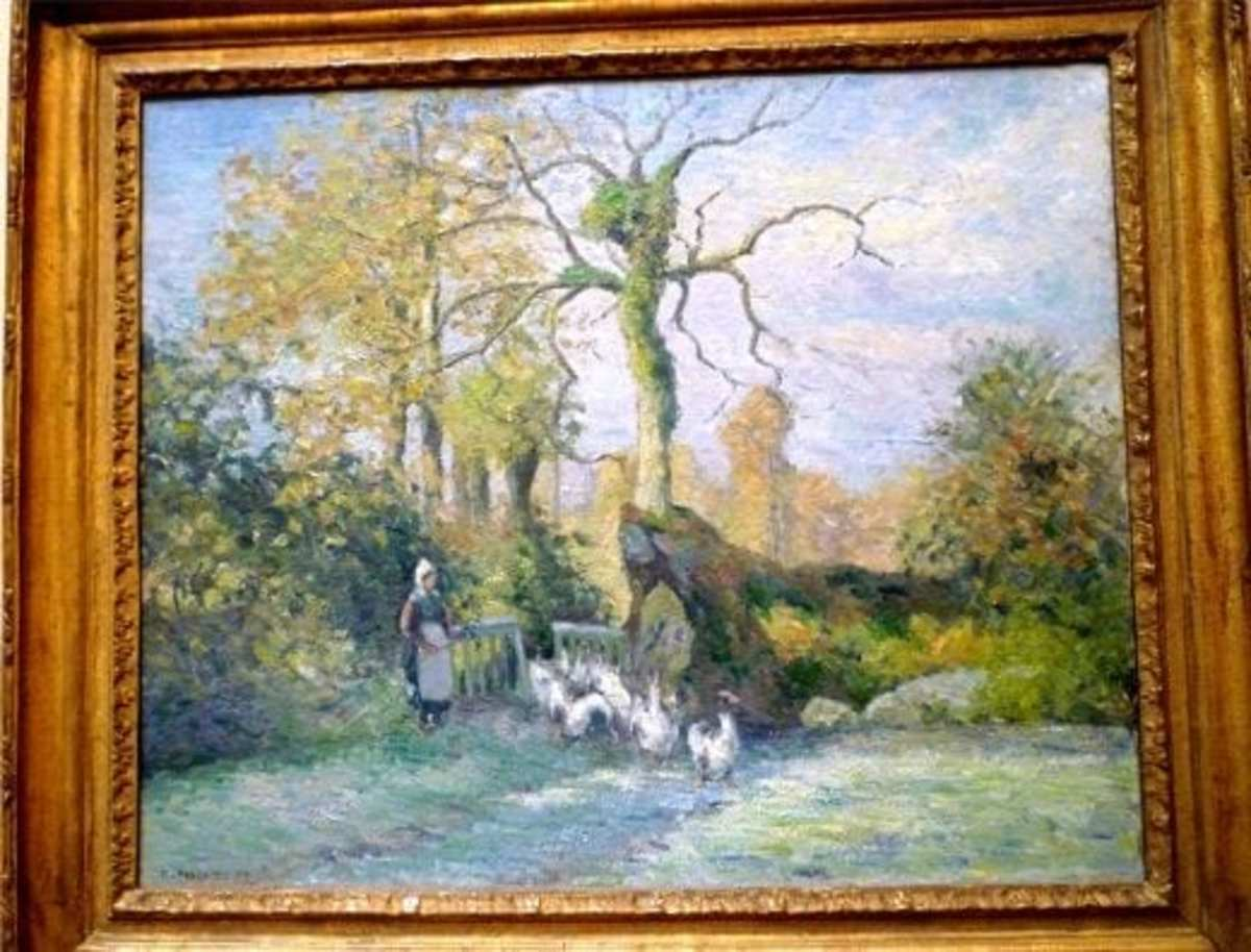 The Goose Girl at Montfoucault by Camille Pissarro