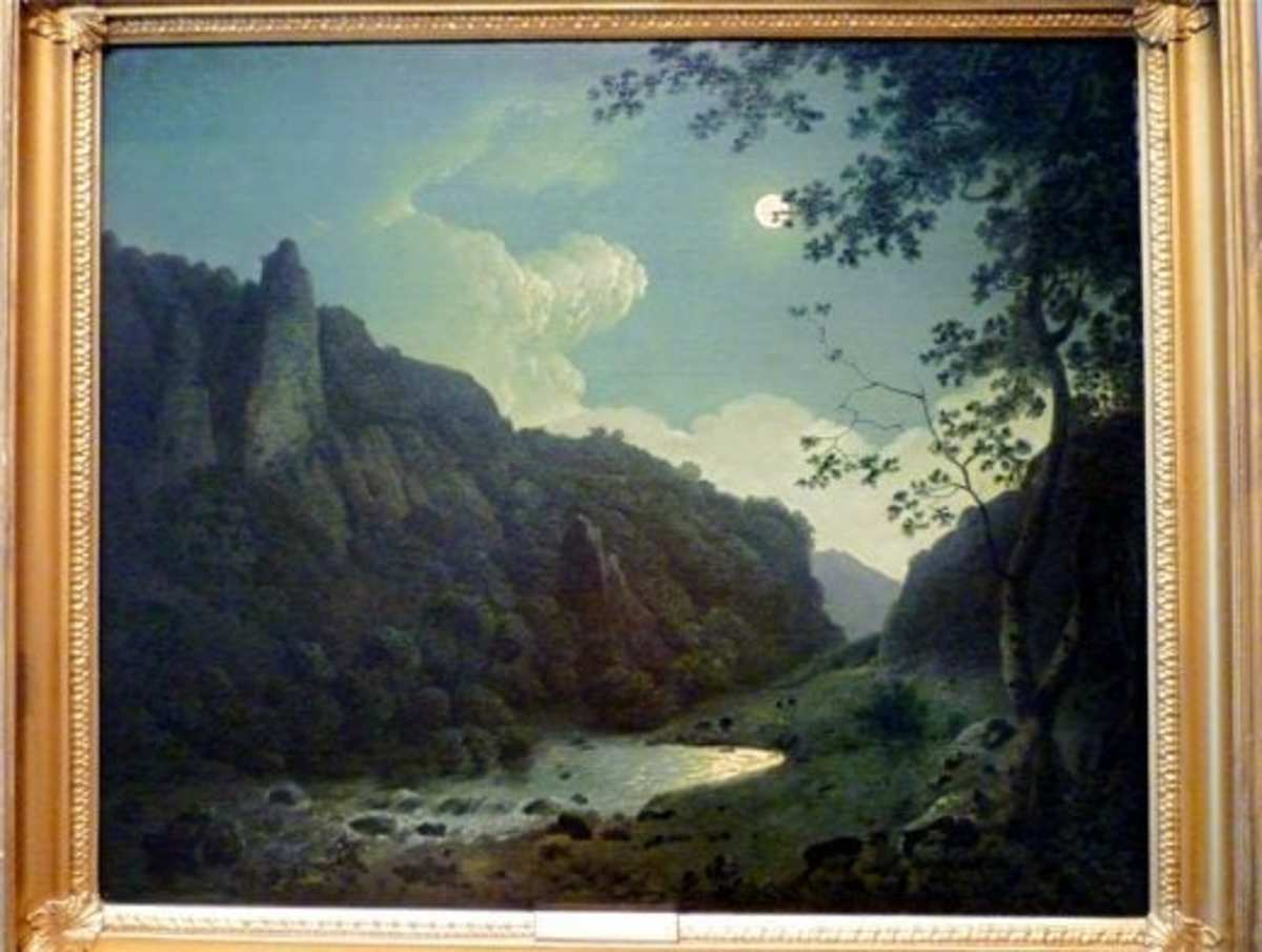 Dovedale by Midnight by Joseph Wright of Derby