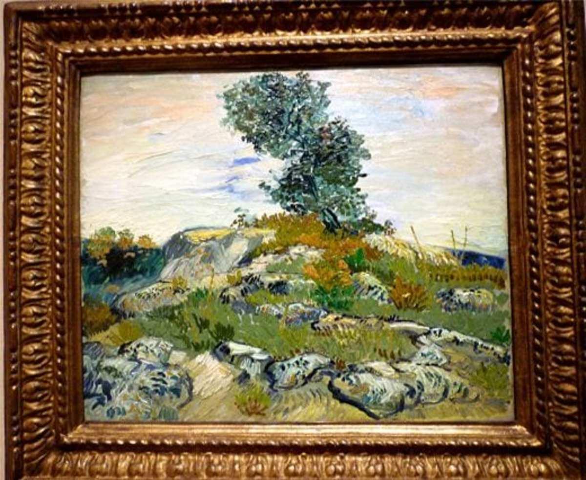 The Rocks by Vincent Van Gogh