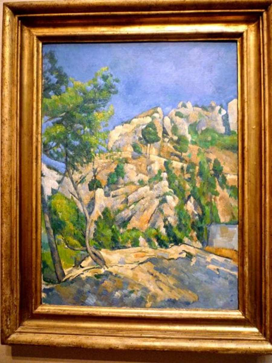 Bottom of the Ravine by Paul Cezanne