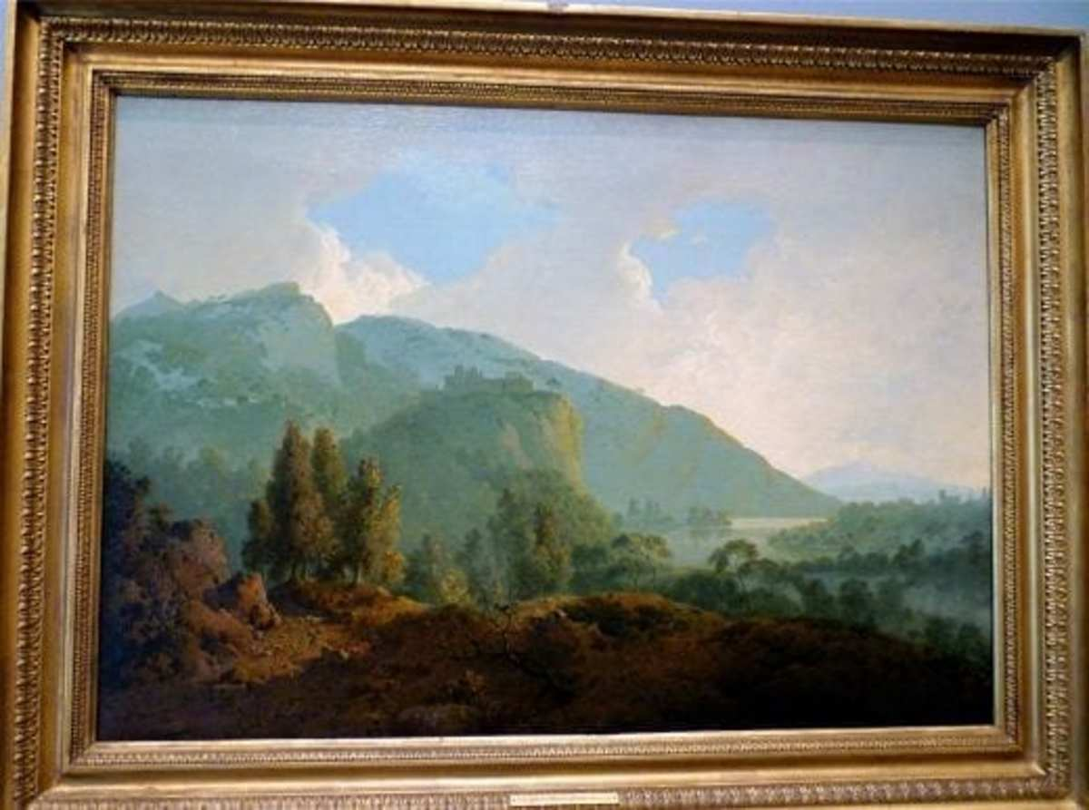Italian Landscape with Mountains and a River by Joseph Wright of Derby