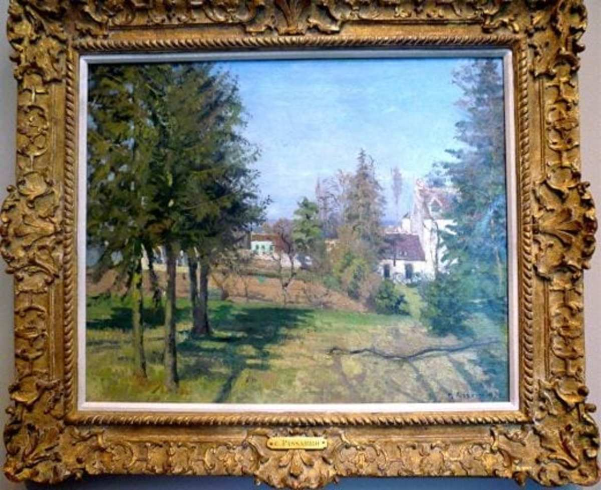 Fir Trees at Louveciennes by Camille Pissarro