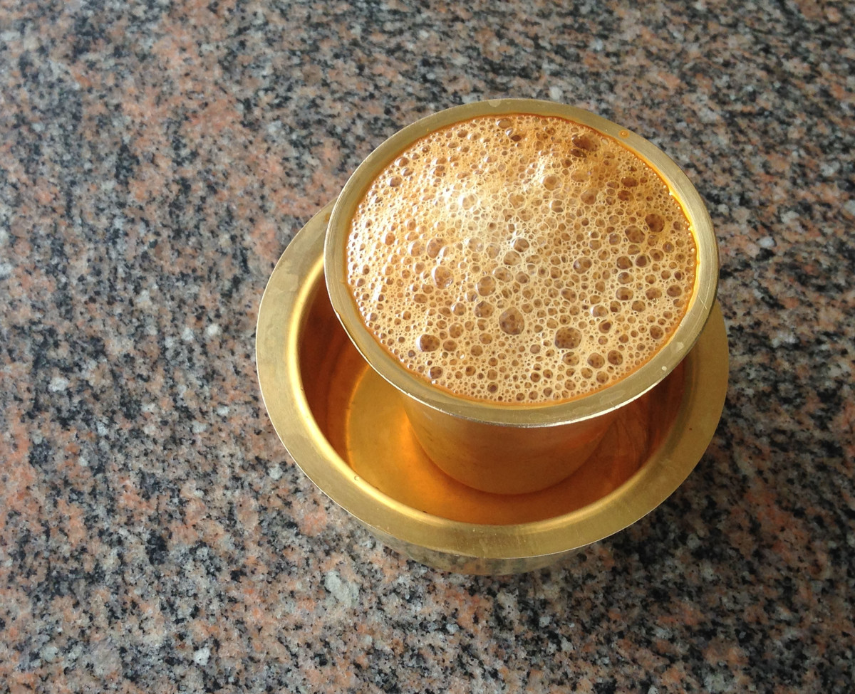 A Typical South Indian Filter Coffee