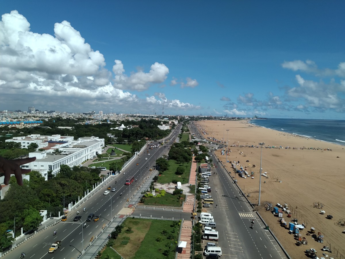 Bird's-eye view of Marina Beach