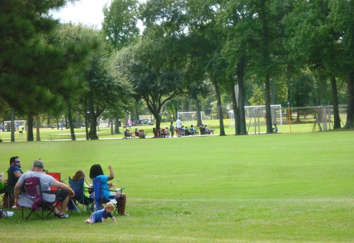 Soccer fields in Meyer Park