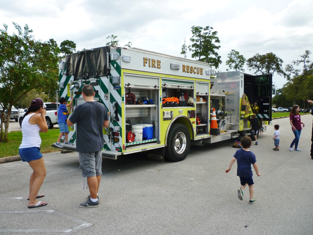 People enjoyed interaction with some of the firemen.