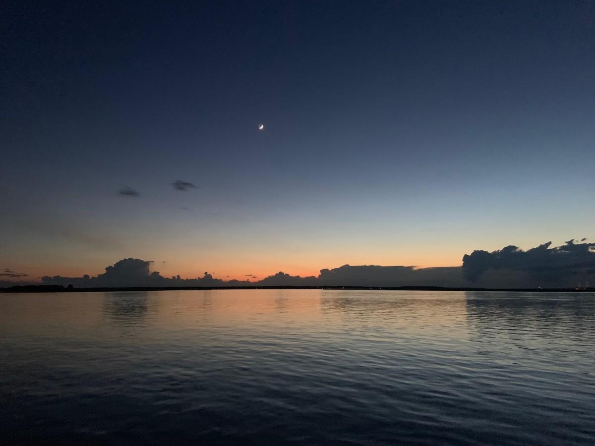 Sunset on the Amelia Island BYOB Twilight  Boat Cruise.