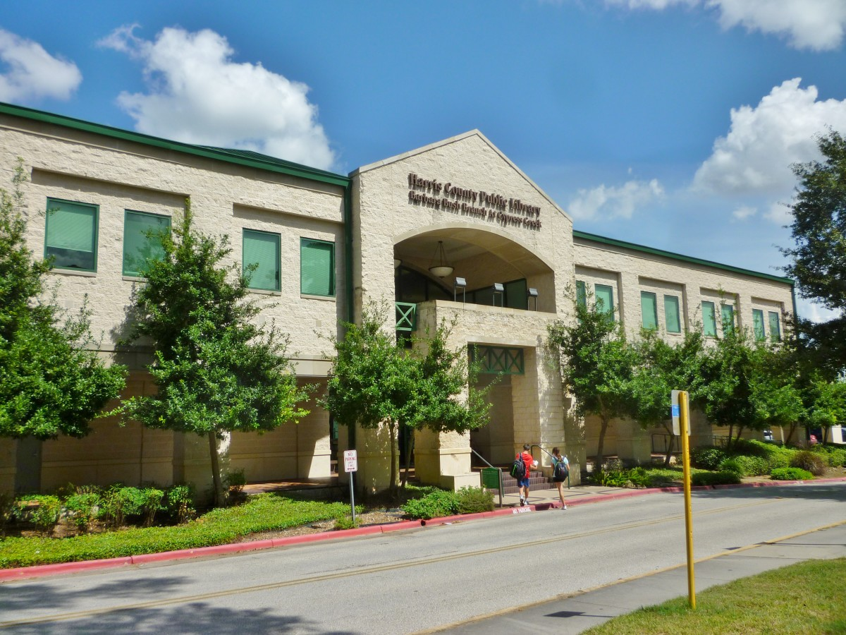 Barbara Bush Library location: 6817 Cypresswood Dr., Spring, Texas 77379