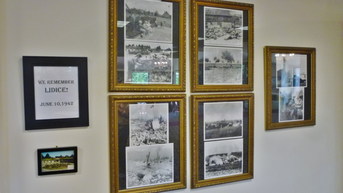 Dedication to victims of the Lidice massacre in Czech Center Museum