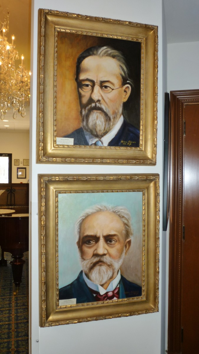 Czech Center Museum images of Czech composers Smetana & Dvorak