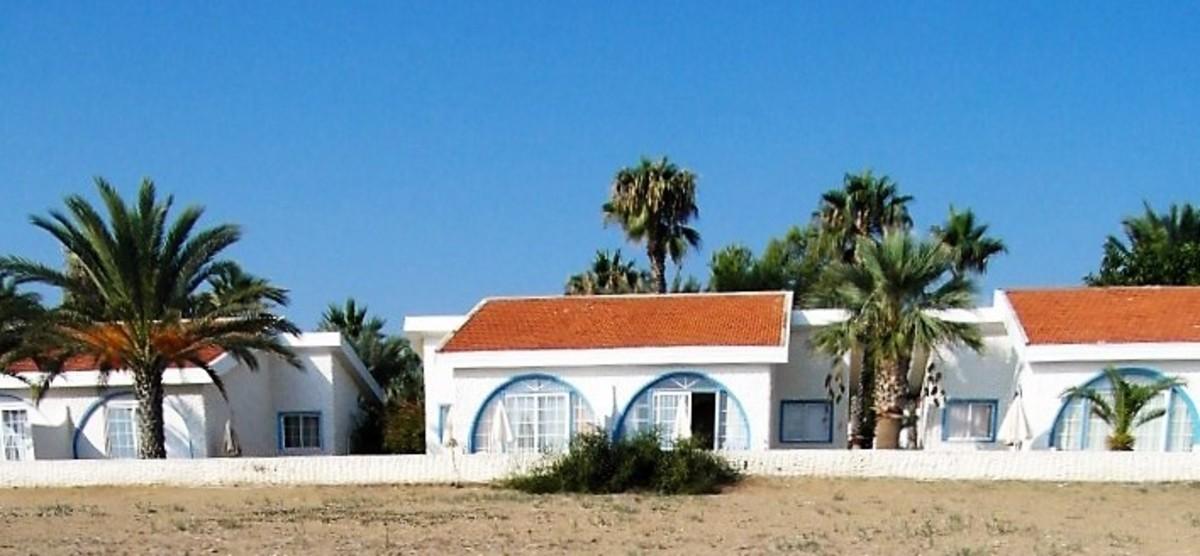 Beach side of villa.