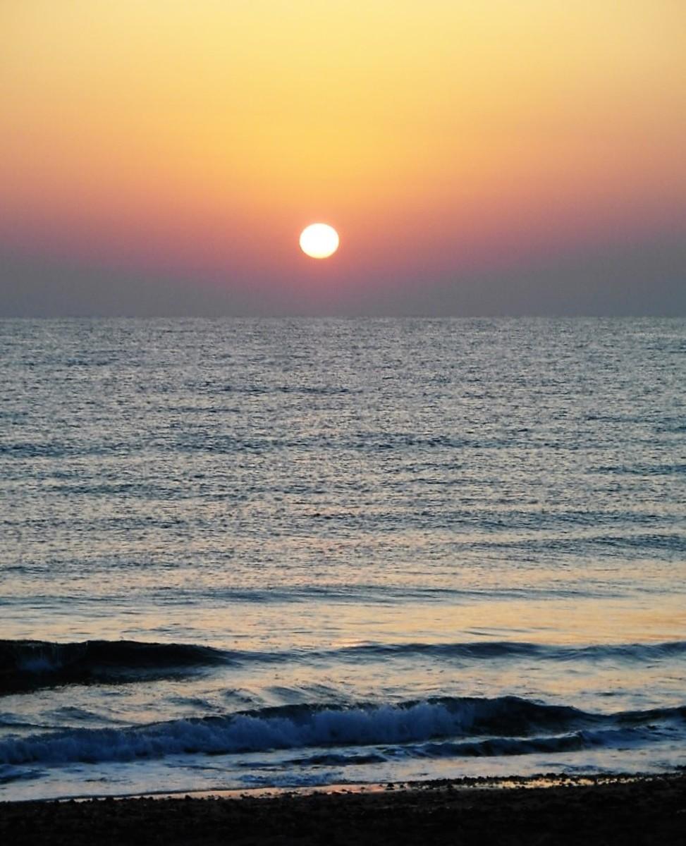 Sunrise at Long Beach Resort Hotel.