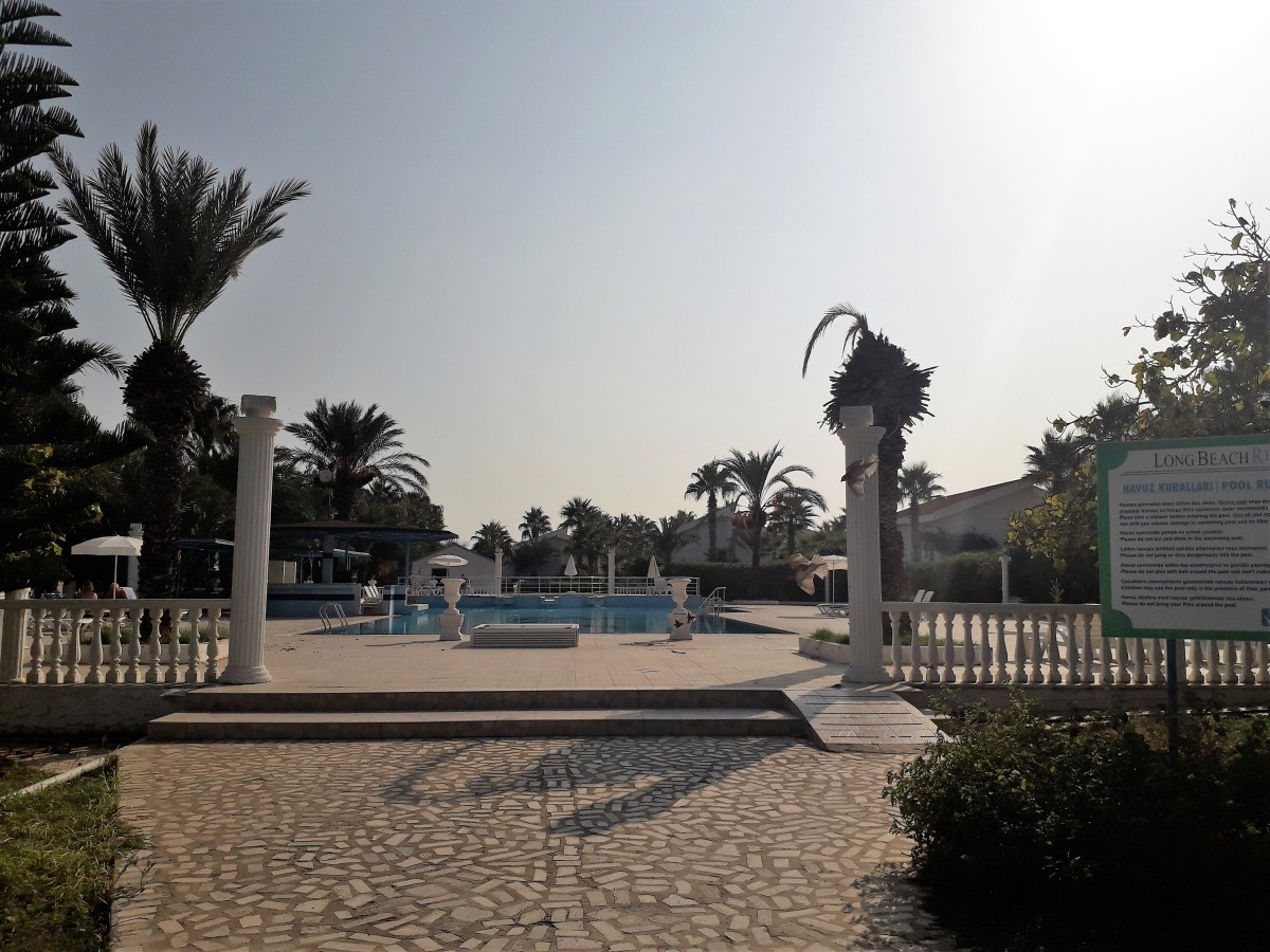Pool area in the center of the resort.