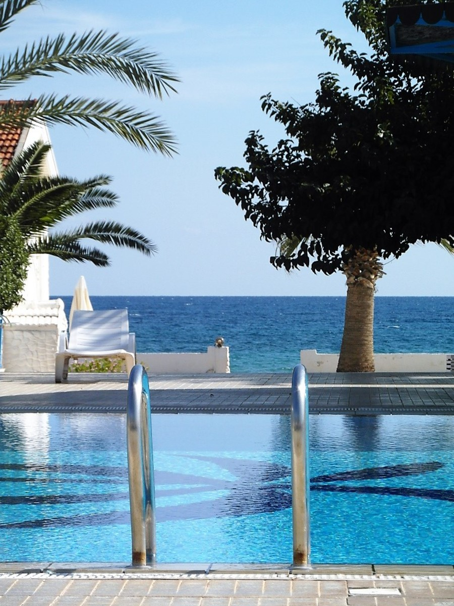 Sea view from the pool.