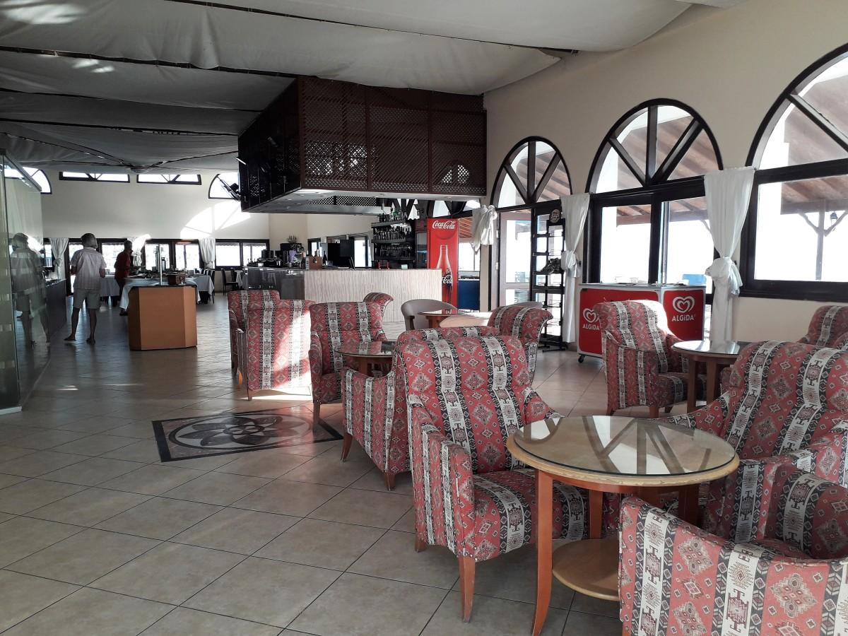 Bar and restaurant beyond.
