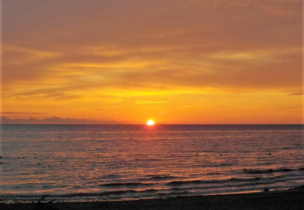 Sunrise at Long Beach Resort.