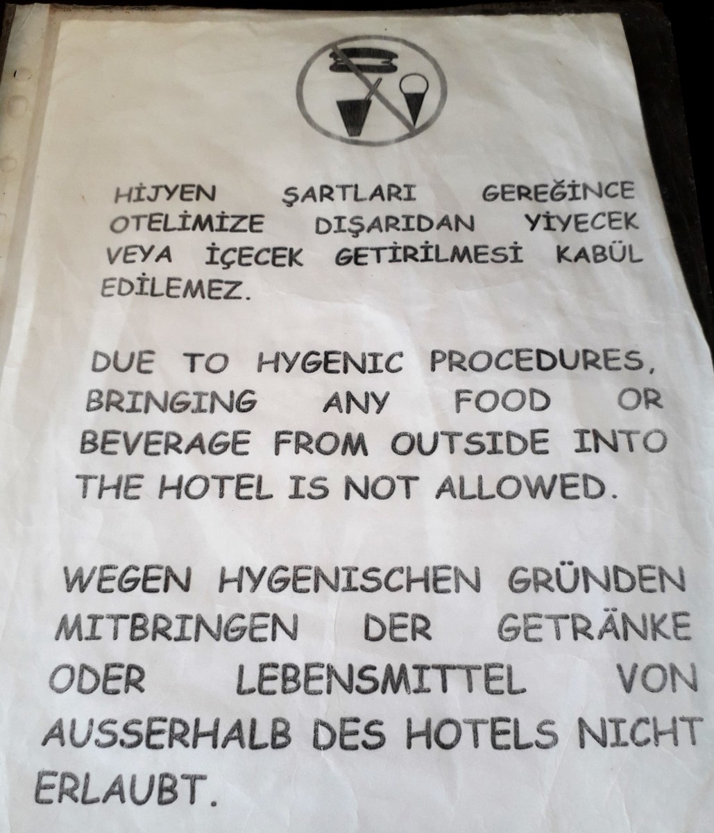 Notice in the Lounge.