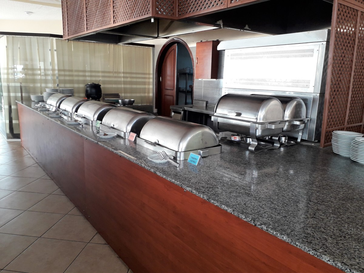 Servery for hot food.
