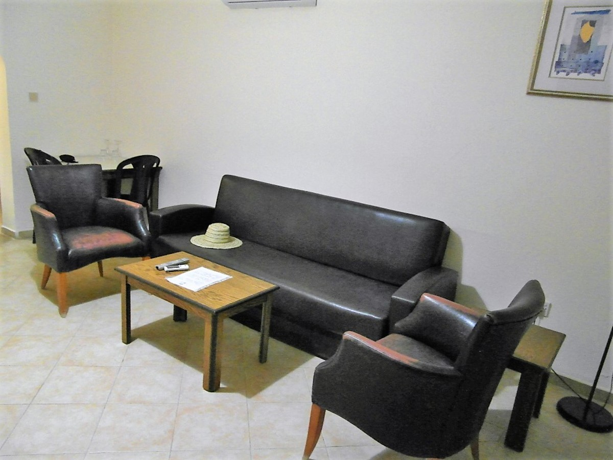 Seating area.
