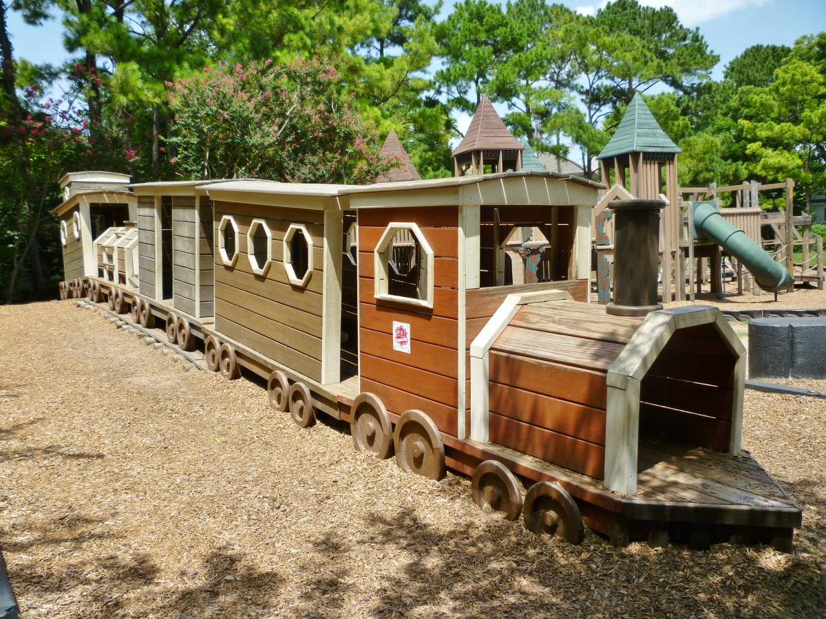 Wooden Train in Donovan Park
