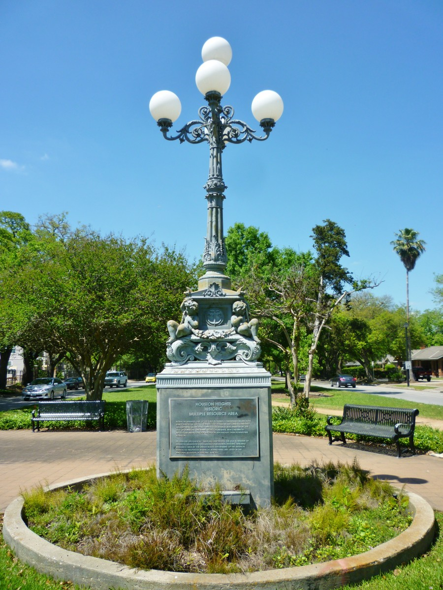 Lombard Lamp on Heights Blvd. in Houston, Texas