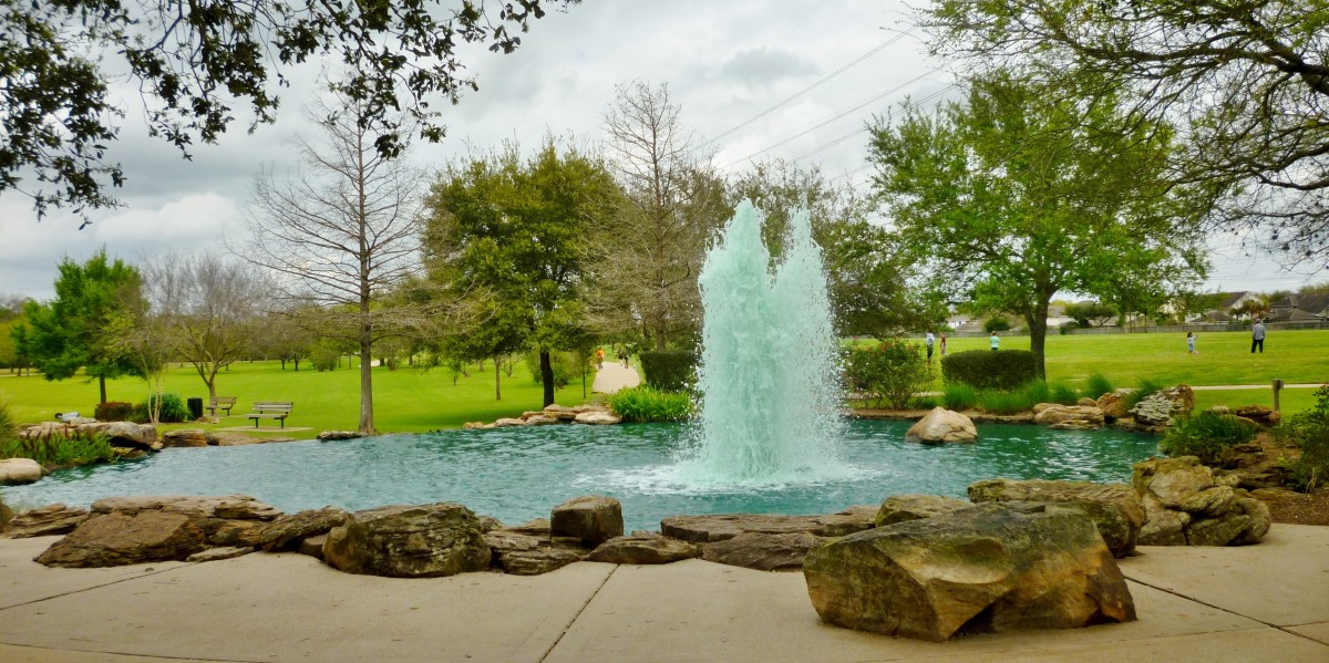 Pretty water feature in the park
