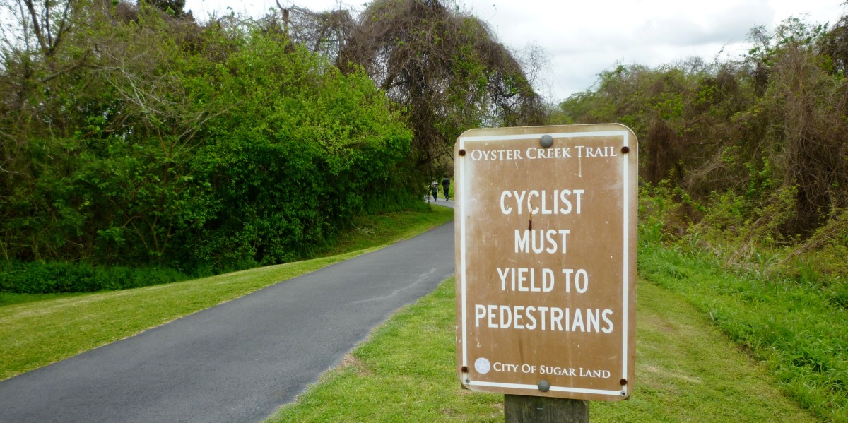 A sign along the trail