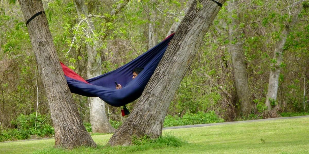 Taking it easy in Oyster Creek Park