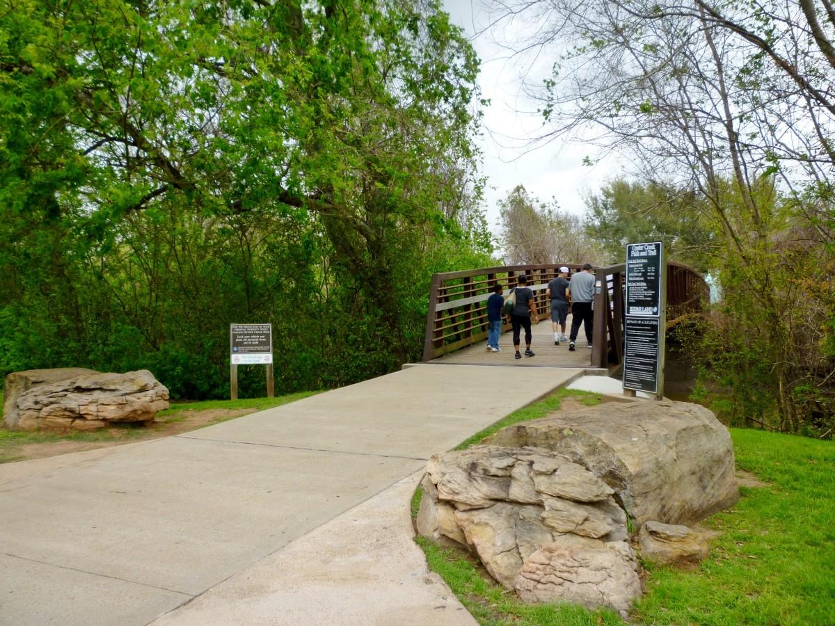 Walking Across the Park Bridge