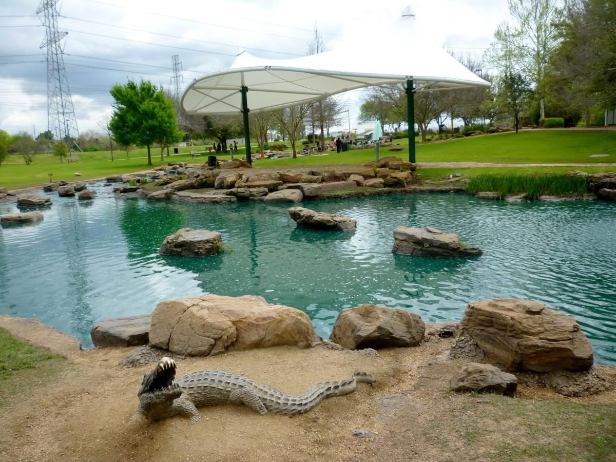 View of Alligator Sculpture & Stage/Pavilion