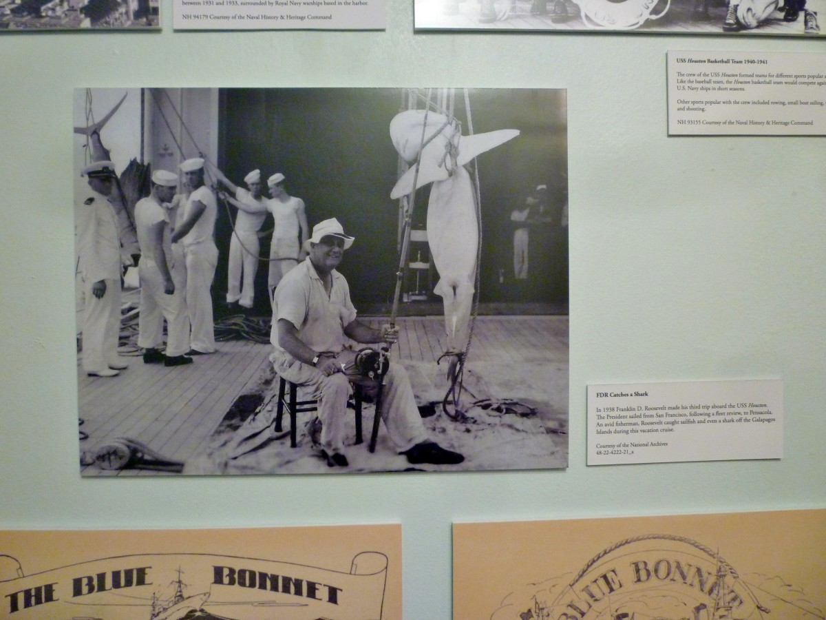 Photo of FDR Catches a Shark at Houston Maritime Museum
