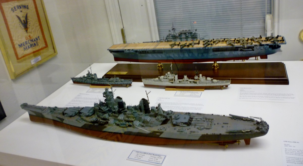 Past Battleship models at Houston Maritime Museum