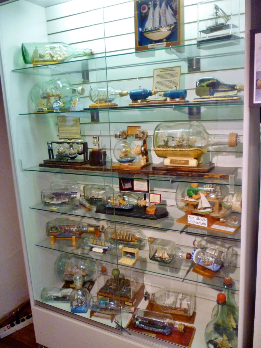 Collection of Ships in a Bottle