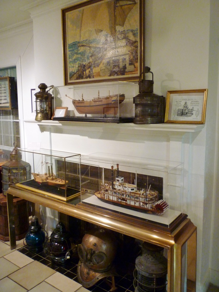Displays inside Houston Maritime Museum