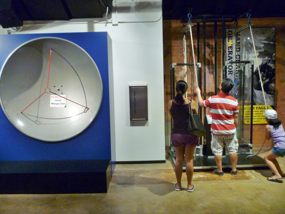 Interactive educational equipment on 2nd floor at HMNS Sugar Land