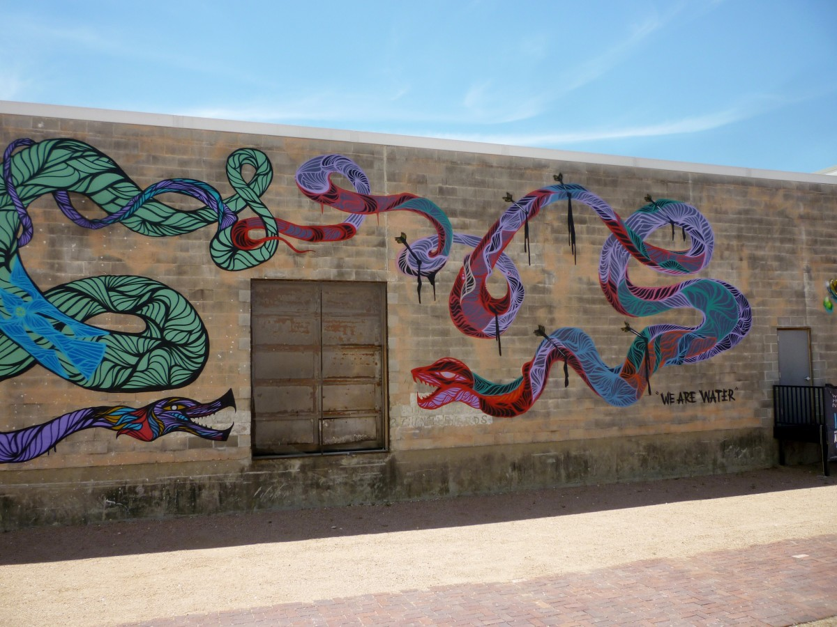 Right side of the mural by Daniel Anguilu