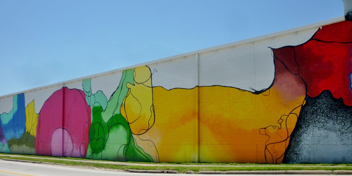 Another view of the Mural at 1505 Sawyer Street by Janavi M. Folmsbee