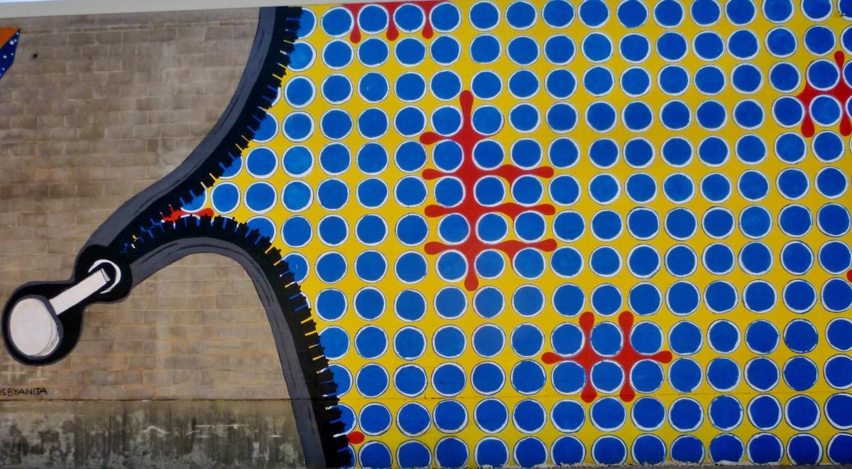 Closeup photo of Zipper Wall by Anita Varadaraju
