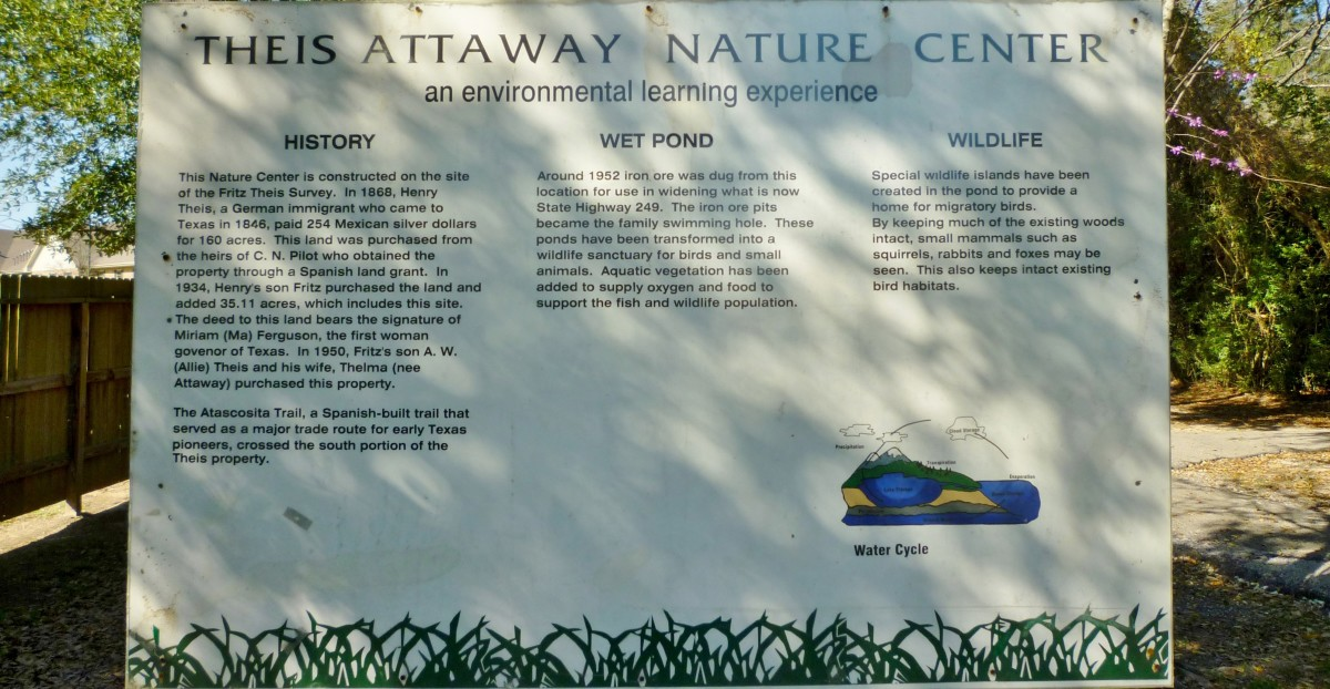 Theis Attaway Nature Center sign