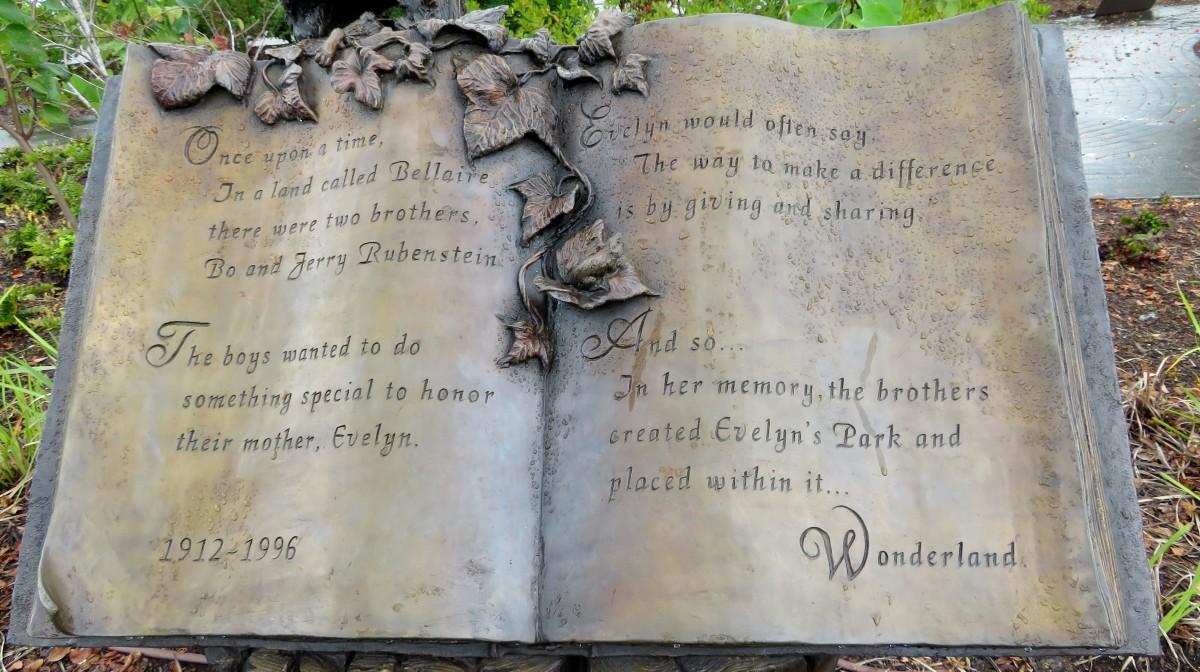 Dedication Information for Evelyn's Park