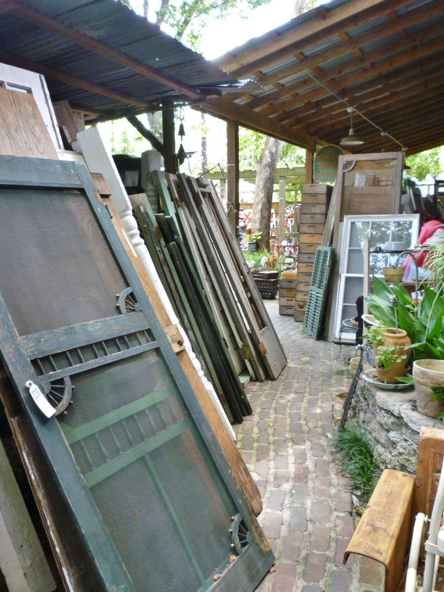 August Antiques Store selection of doors