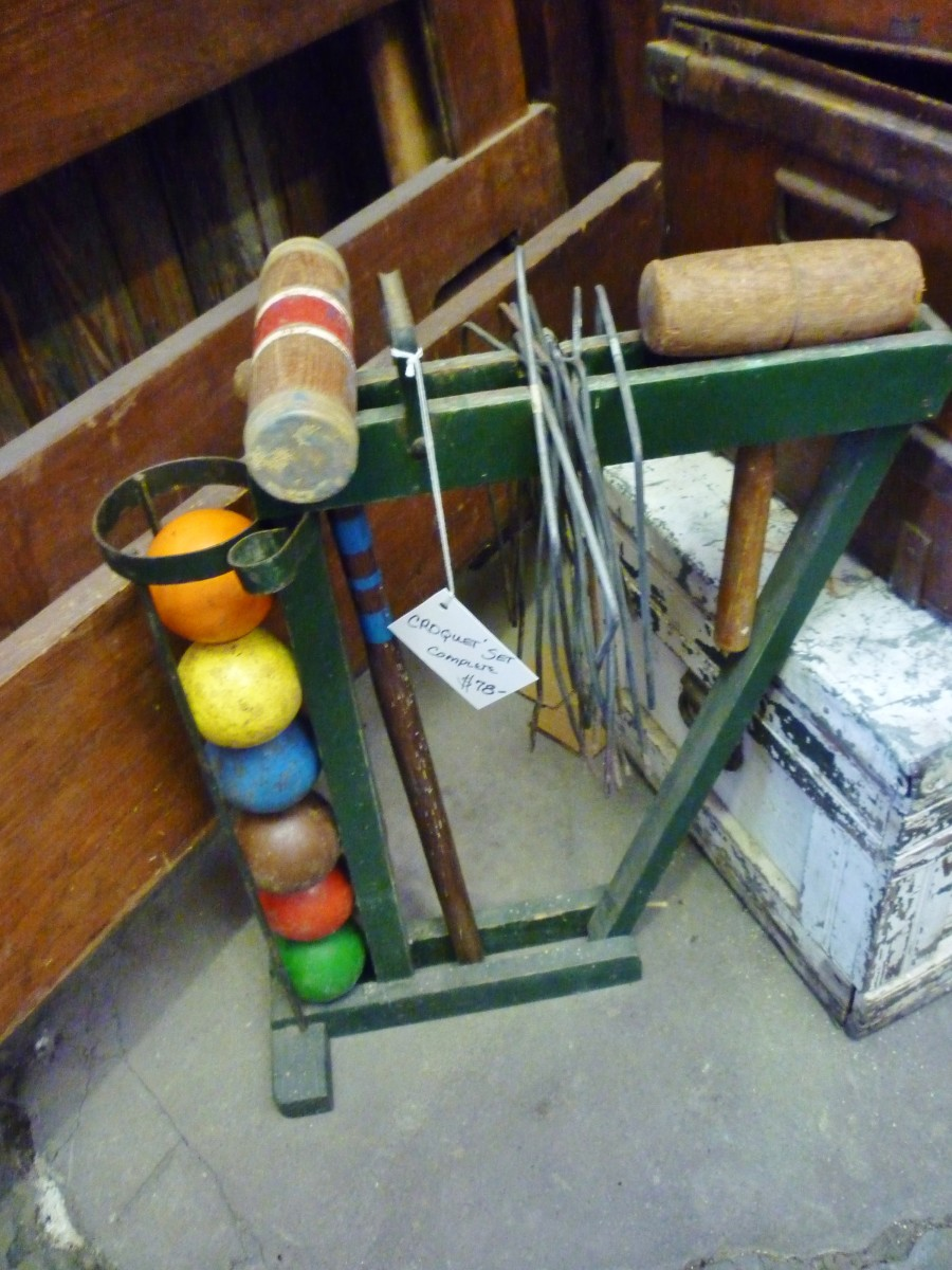 August Antiques Store old croquet set