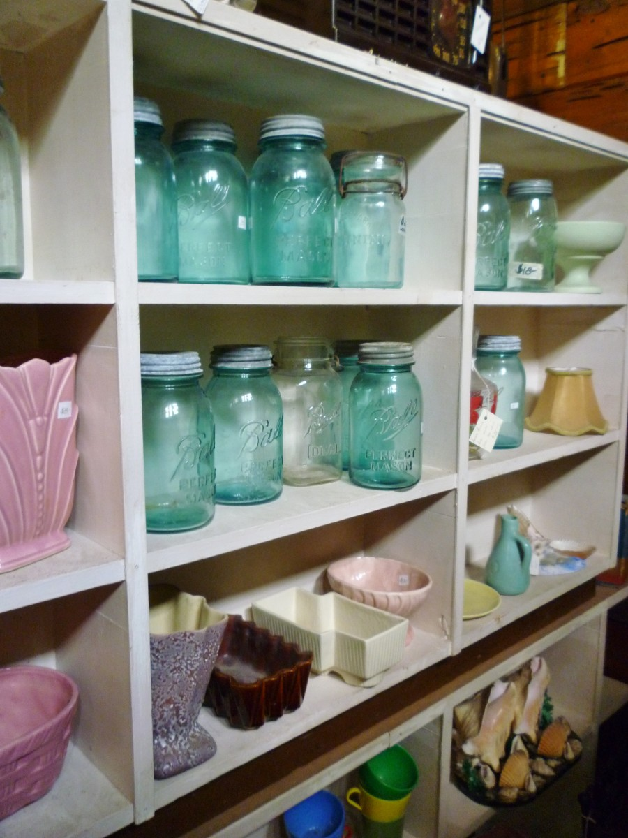 Old jars, etc.