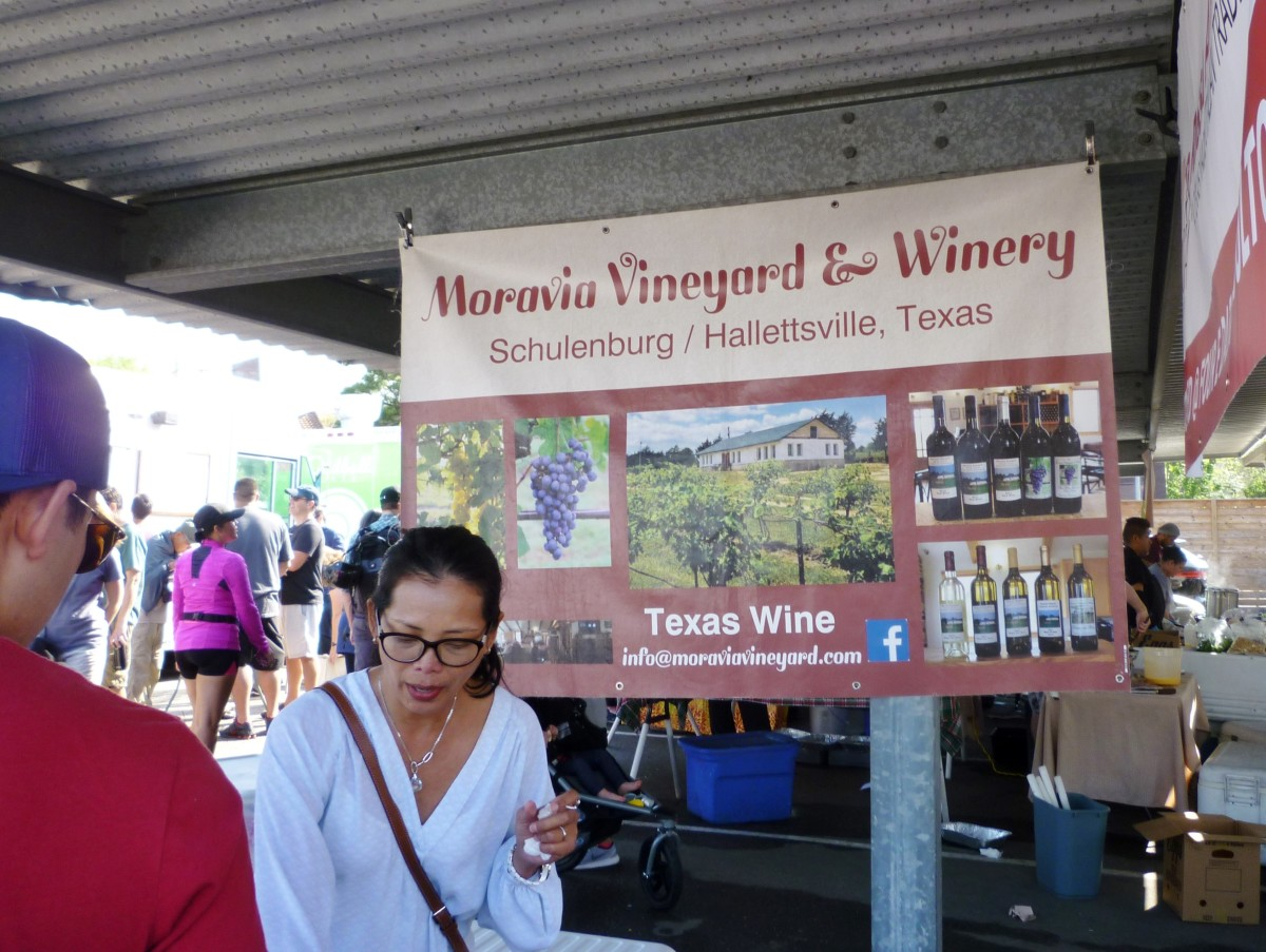 Samples from this winery were at the Eastside Farmer's Market
