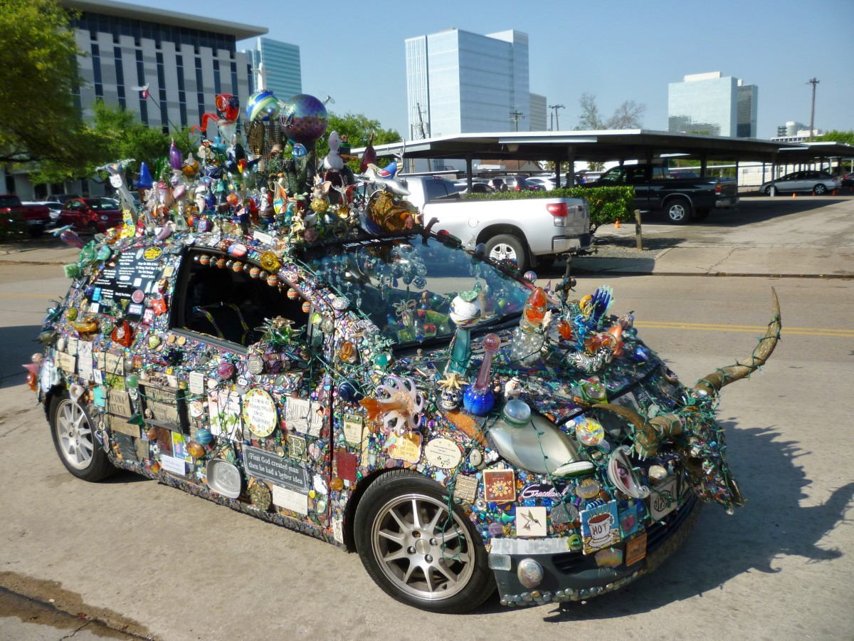 Art Car at Eastside Farmer's Market